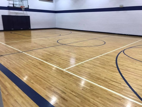 Gym Floor Restoration by Rhodes Hardwood