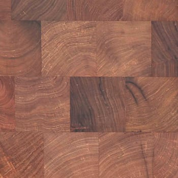 mesquite end grain rhodes hardwood