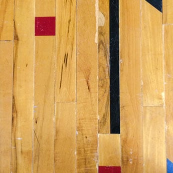reclaimed gym floor