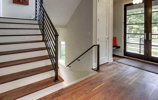 Custom Floor and Stairs by Rhodes Hardwood